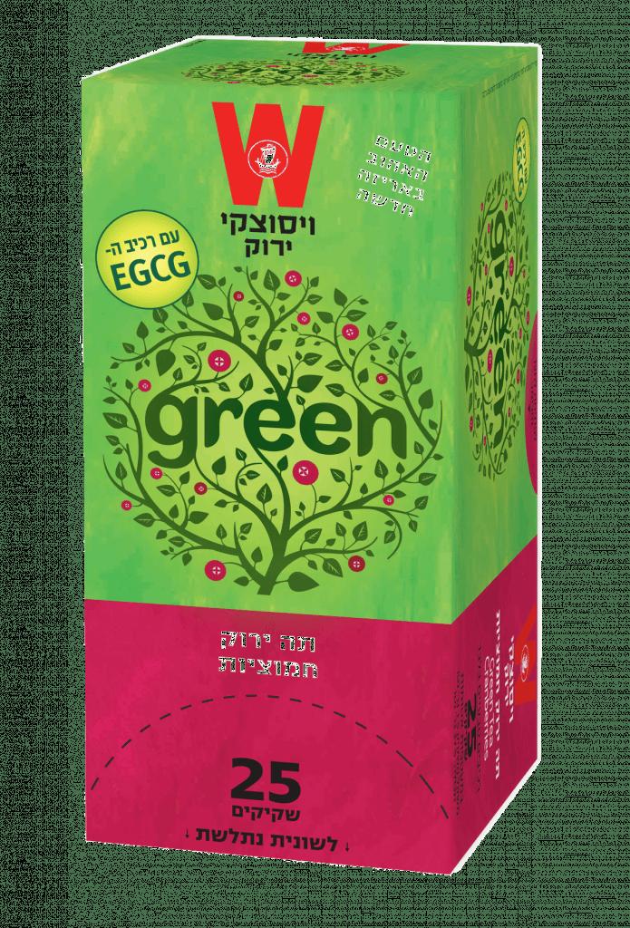 תה ירוק חמוציות
