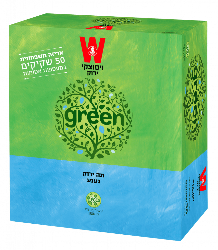 תה ירוק נענע אריזה משפחתית