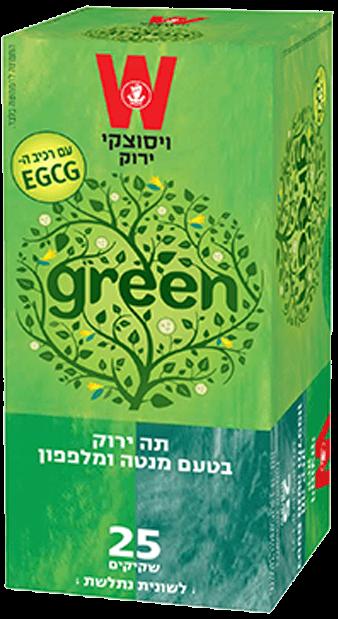 תה ירוק מנטה ומלפפון