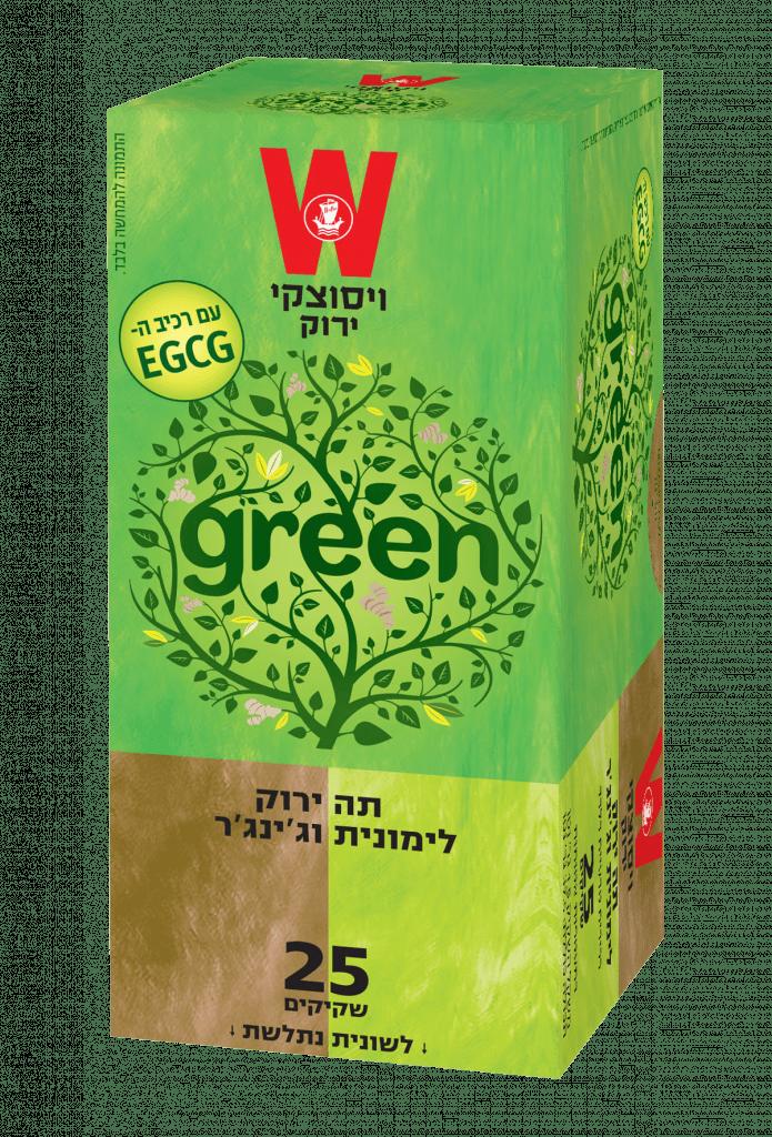 תה ירוק לימונית וג'ינג'ר