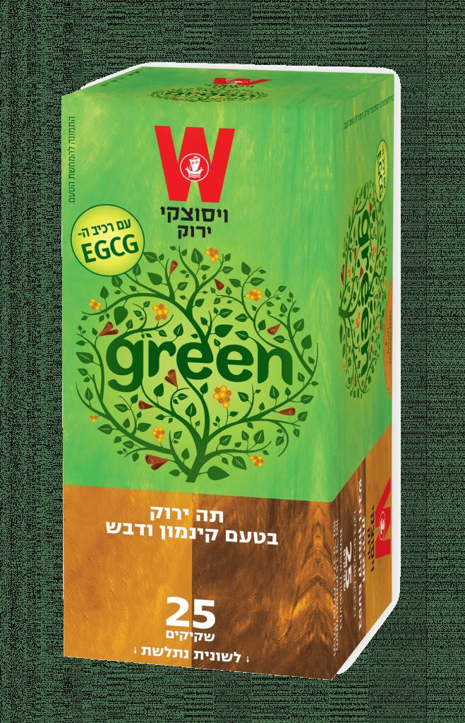 תה ירוק קינמון ודבש