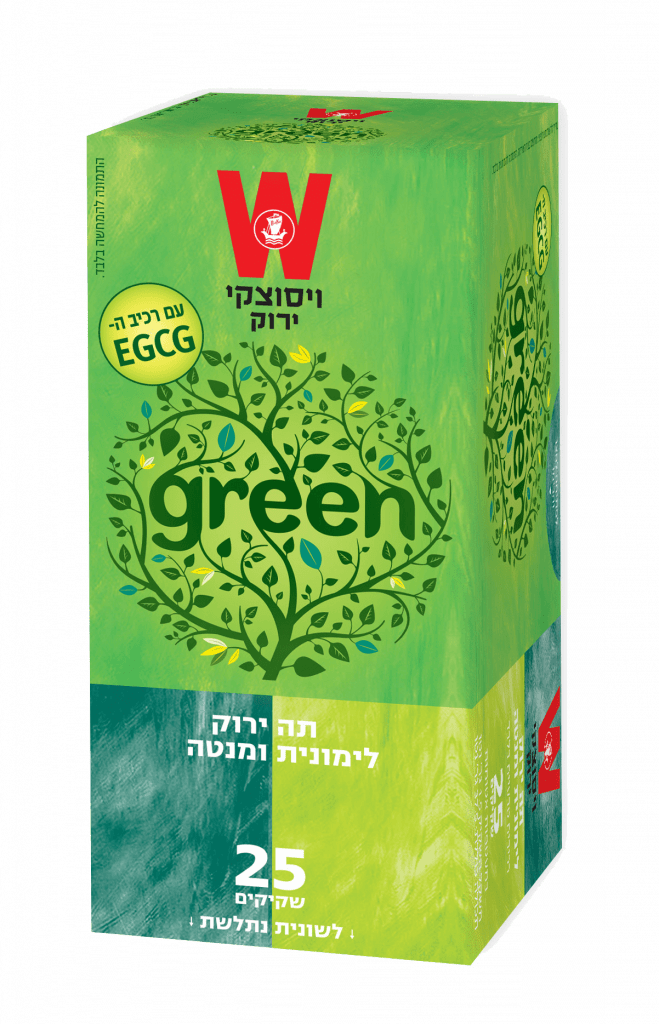 תה ירוק לימונית ומנטה
