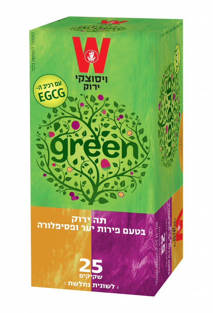 תה ירוק פירות יער ופסיפלורה