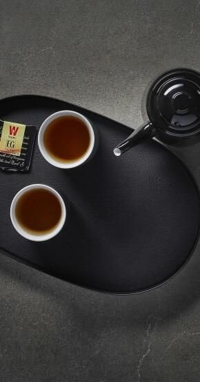 מגש תה עם קנקן כוסות וארל גריי