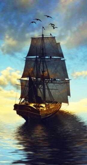 אוניה שטה בים