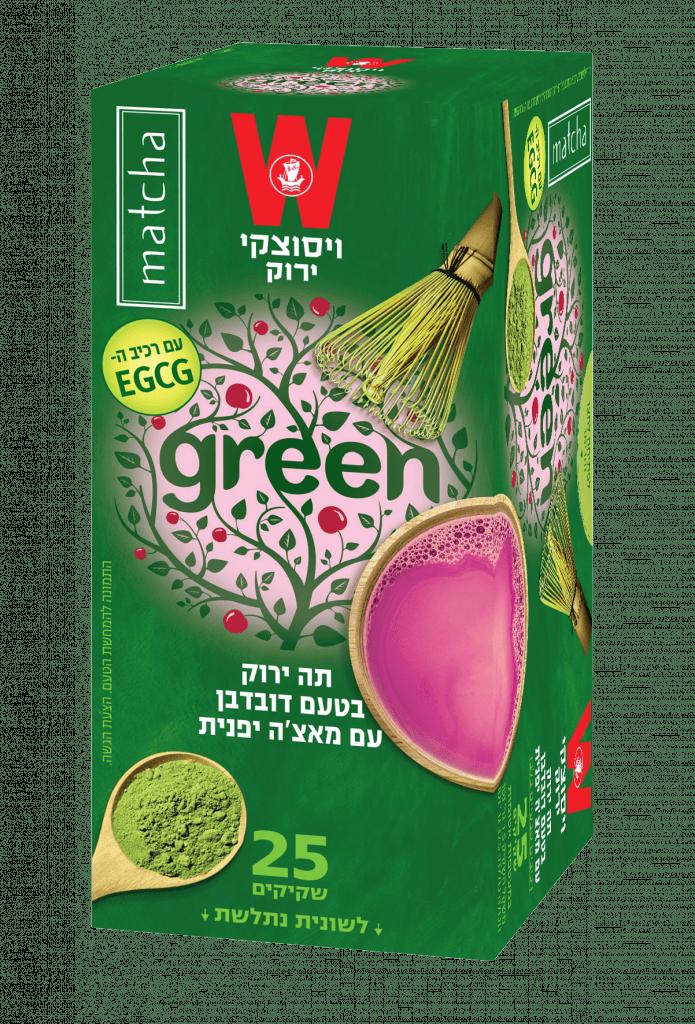 תה ירוק מאצ'ה דובדבן